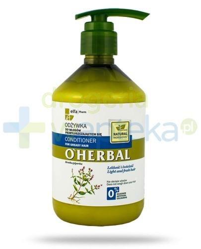 O'Herbal Odżywka do włosów przetłuszczających się z ekstraktem z mięty 500 ml Elfa Pharm [Data ważności 05-10-2020]
