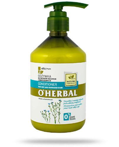 O'Herbal Odżywka do włosów suchych i zniszczonych z ekstraktem z lnu 500 ml Elfa Pharm