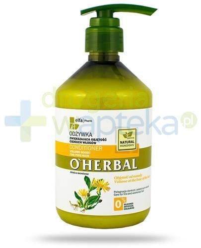 O'Herbal Odżywka zwiększająca objętość cienkich włosów z ekstraktem z arniki 500 ml Elfa Pharm