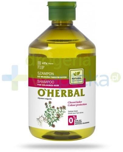 O'Herbal Szampon do włosów farbowanych z ekstraktem z macierzanki tymianku 500 ml Elfa Pharm