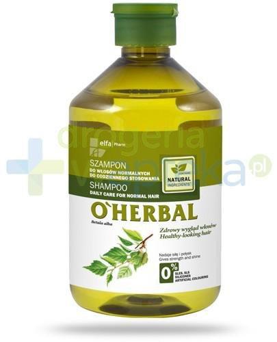 O'Herbal Szampon do włosów normalnych do codziennego stosowania z ekstraktem z brzozy 500 ml Elfa Pharm