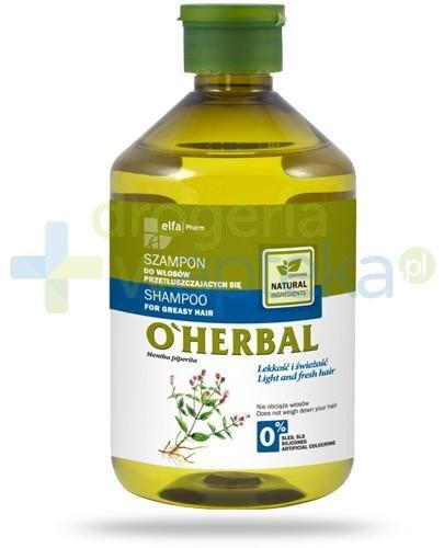 O'Herbal Szampon do włosów przetłuszczających się z ekstraktem z mięty 500 ml Elfa Pharm