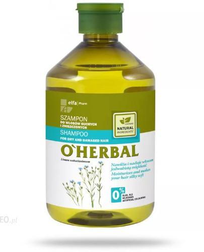 O'Herbal Szampon do włosów suchych i zniszczonych z ekstraktem z lnu 500 ml Elfa Pharm