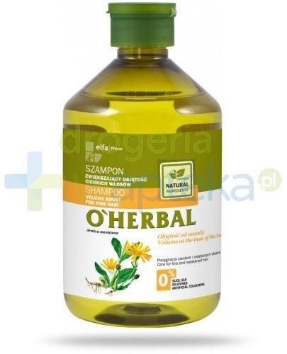 O'Herbal Szampon zwiększający objętość cienkich włosów z ekstraktem z arniki 500 ml Elfa Pharm