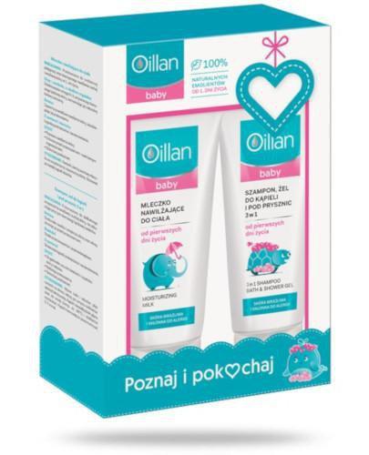 Oillan Baby mleczko nawilżające do ciała 200 ml + szampon, żel do kąpieli i pod prysz...