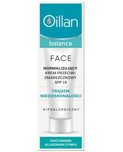 Oillan Balance Face normalizujący krem przeciwzmarszczkowy SPF15 40 ml
