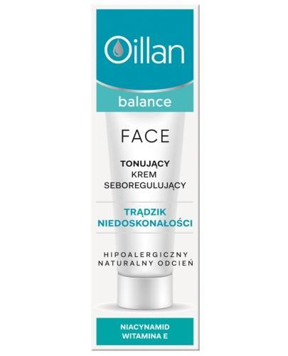 Oillan Balance Face tonujący krem seboregulujący 40 ml