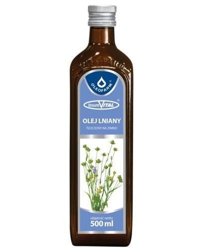 Oleofarmv LinumVital olej lniany tłoczony na zimno 500 ml