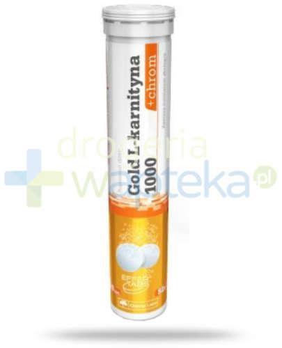 Olimp Gold L-karnityna 1000 + chrom (cytrynowo-limonkowy z miętą) 20 tabletek musującyc...
