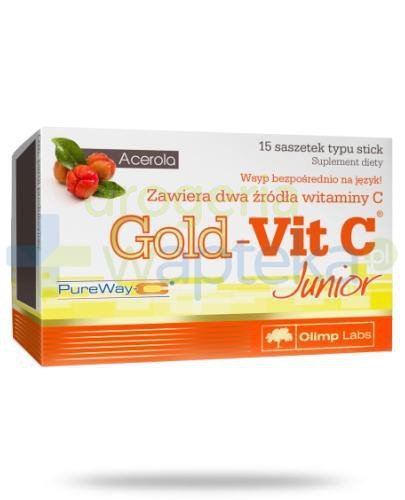Olimp Gold-Vit C Junior proszek 15 saszetek
