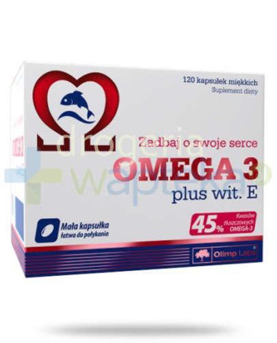 Olimp Omega-3 plus witamina E 120 kapsułek