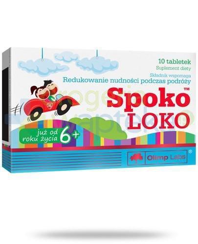Olimp Spoko Loko na nudności podczas podróży 10 tabletek  whited-out