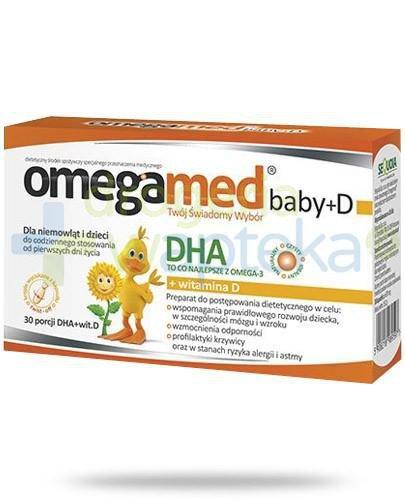 Omegamed Baby DHA + witamina D dla niemowląt i dzieci 30 kapsułek