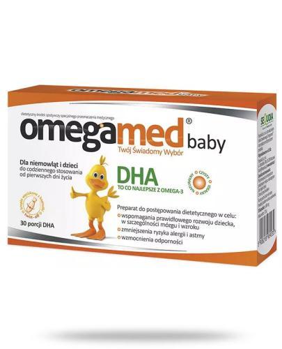 Omegamed Baby DHA z ALG dla niemowląt i dzieci 30 kapsułek