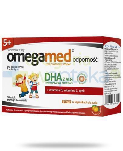 Omegamed Odporność DHA z ALG syrop w kapsułkach do żucia dla dzieci 5+ 30 sztuk