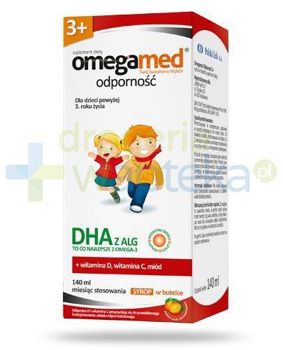 Omegamed Odporność DHA z ALG syrop dla dzieci 3+ 140 ml  whited-out