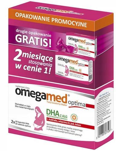 Omegamed Optima DHA z ALG dla kobiet w ciąży i karmiących 2x 60 kapsułek [DWUPAK]