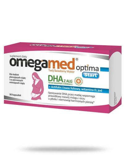 Omegamed Optima Start DHA z ALG dla kobiet planujących ciążę 30kapsułek  whited-out