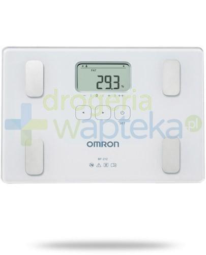 Omron BF 212 waga elektroniczna i analizator składu ciała kolor biały 1 sztuka  whited-out