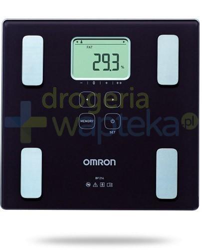 Omron BF 214 waga elektroniczna i analizator składu ciała kolor brązowy 1 sztuka  whited-out