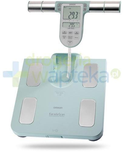 Omron BF 511 waga elektroniczna i analizator składu ciała kolor turkusowy 1 sztuka  whited-out