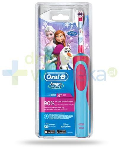 Oral-B Stages Kids Kraina Lodu szczoteczka elektryczna dla dzieci 3+ 1 sztuka + piórnik [...  whited-out