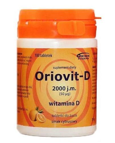Oriovit-D 2000 j.m. (50mcg) smak cytrusowy 100 tabletek