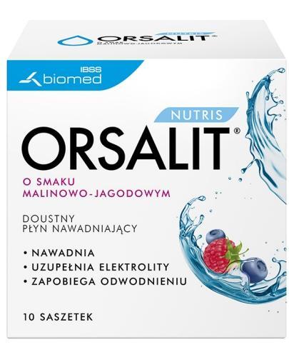 Orsalit Nutris smak malinowo jagodowy 10 saszetek