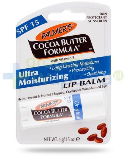 Palmers Cocoa Butter balsam pielęgnacyjny do ust w sztyfcie o zapachu czekoladowym 4 g