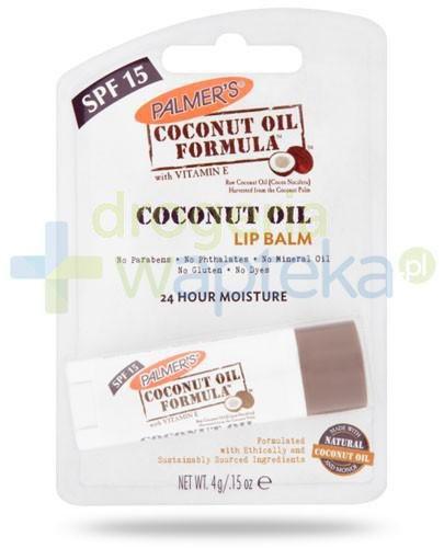 Palmers Coconut Oil balsam nawilżający do ust z olejkiem kokosowym 4 g
