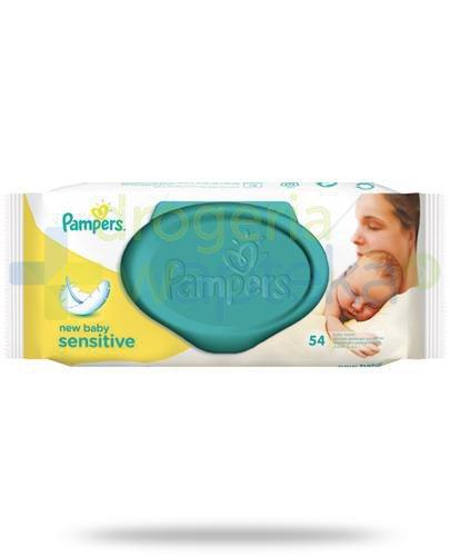 Pampers New Baby Sensitive chusteczki nawilżane dla dzieci i niemowląt 54 sztuki  whited-out