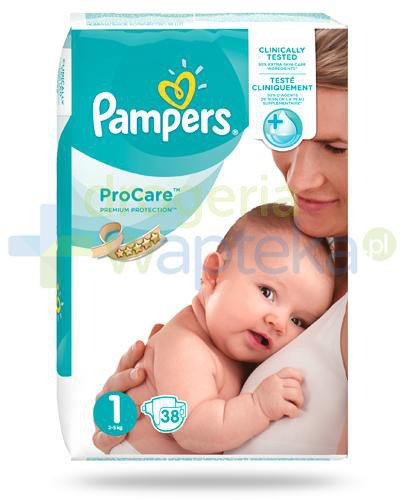 Pampers ProCare 1 pieluchy dla niemowląt 2-5kg 38 sztuk