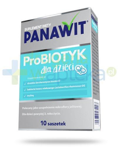 Panawit ProBiotyk dla dzieci 3+ 10 saszetek  whited-out