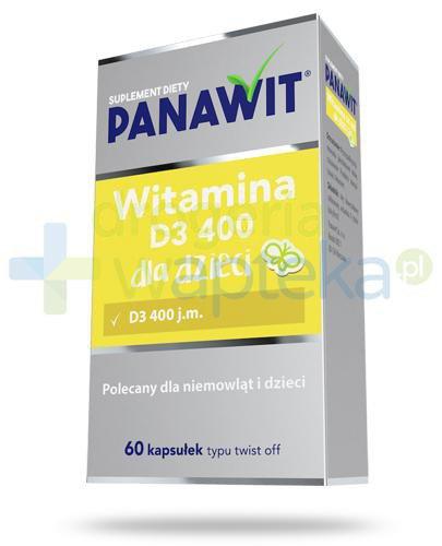 Panawit witamina D3 400 dla dzieci 3+ 60 kapsułek  whited-out