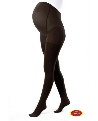 Pani Teresa Rajstopy uciskowe dla kobiet w ciąży Premium 1 klasa kompresji czarne rozmia...