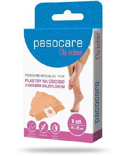 Pasocare Specialist Plus Dla kobiet plastry na odciski 8 sztuk