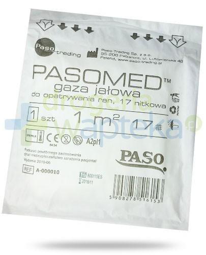PasoMed gaza opatrunkowa jałowa 17 nitek 1m2 1 sztuka