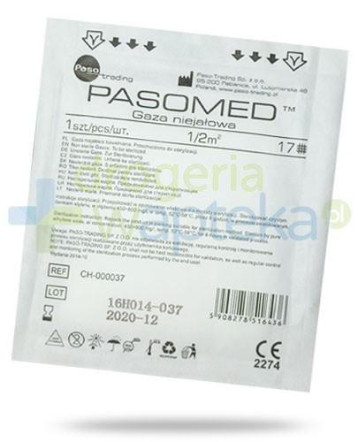 PasoMed gaza opatrunkowa niejałowa 17 nitek 1/2m2 1 sztuka