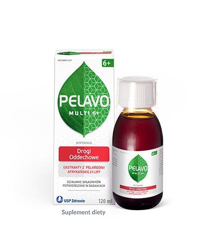 Pelavo Multi Drogi oddechowe syrop dla dzieci 6+ o smaku malinowym 120 ml