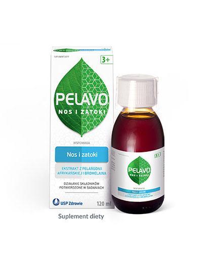 Pelavo Nos i Zatoki syrop dla dzieci 3+ o smaku wiśniowym 120 ml