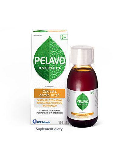 Pelavo Oskrzela, gardło, krtań syrop dla dzieci 3+ o smaku wiśniowym 120 ml