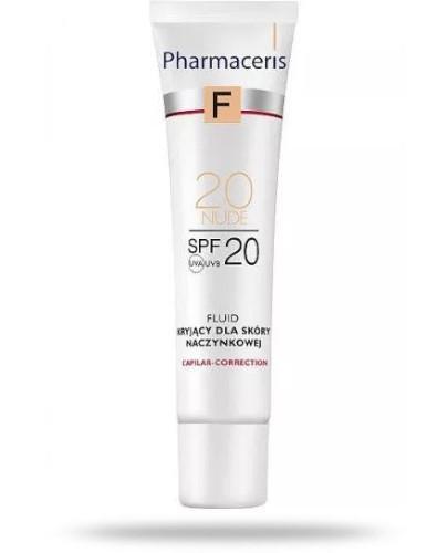 Pharmaceris F Capilar-Correction 20 Nude fluid kryjący SPF20 dla skóry naczynkowej 30 ml