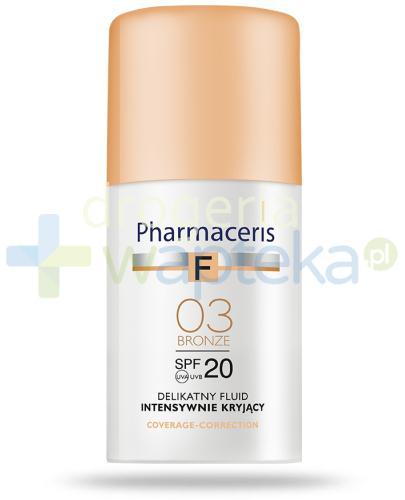Pharmaceris F delikatny fluid intensywnie kryjący SPF20 03 BRONZE 30 ml