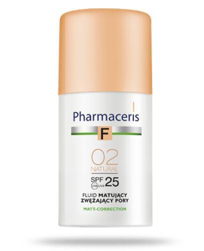 Pharmaceris F fluid matujący SPF25 zwężający pory NATURAL 02 naturalny 30 ml