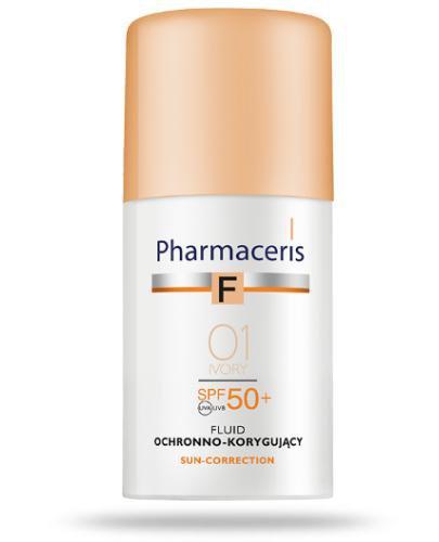 Pharmaceris F fluid ochronno korygujący SPF50+ najwyższa ochrona IVORY 01 30 ml