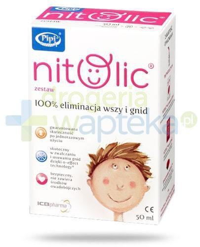 Pipi Nitolic zestaw przeznaczony do kompleksowego usuwania wszawicy 50 ml