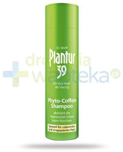 Plantur 39 Coffein szampon do włosów farbowanych 250 ml  whited-out