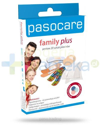 Plaster PasoCare Family Plus zestaw hipoalergiczny 20 sztuk [WYPRZEDAŻ]