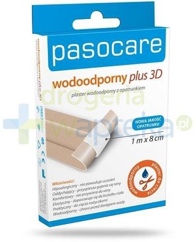Plaster PasoCare wodoodporny plus 3D 10 x 8 cm 10 sztuk