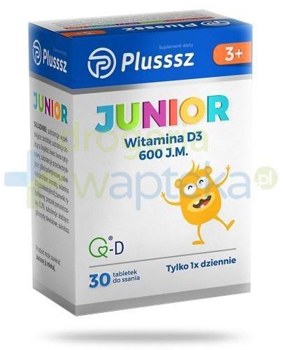Plusssz Junior Witamina D3 tabletki do ssania 30 sztuk [Data ważności 30-04-2020]